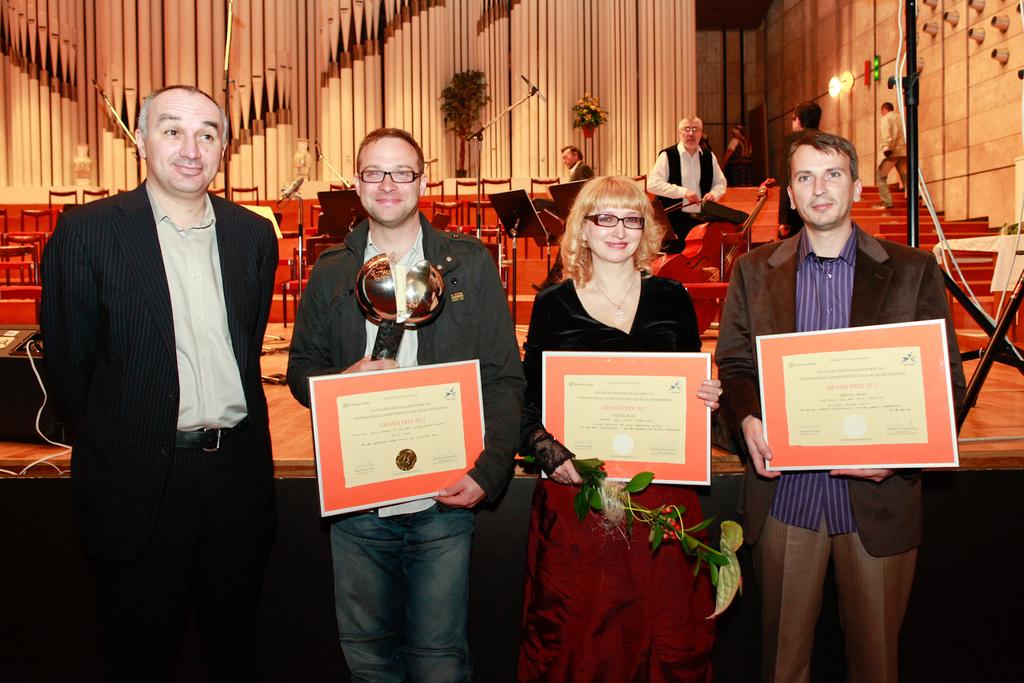K.Borysiak (PL) Grand Prix; L.Osipova (RU) & V. Atanasov (BG), special prizes, L. Marceau (EBU)