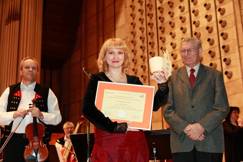 Slávnostné udeľovanie cien - L.Osipova (Rusko) - vedľajšia cena